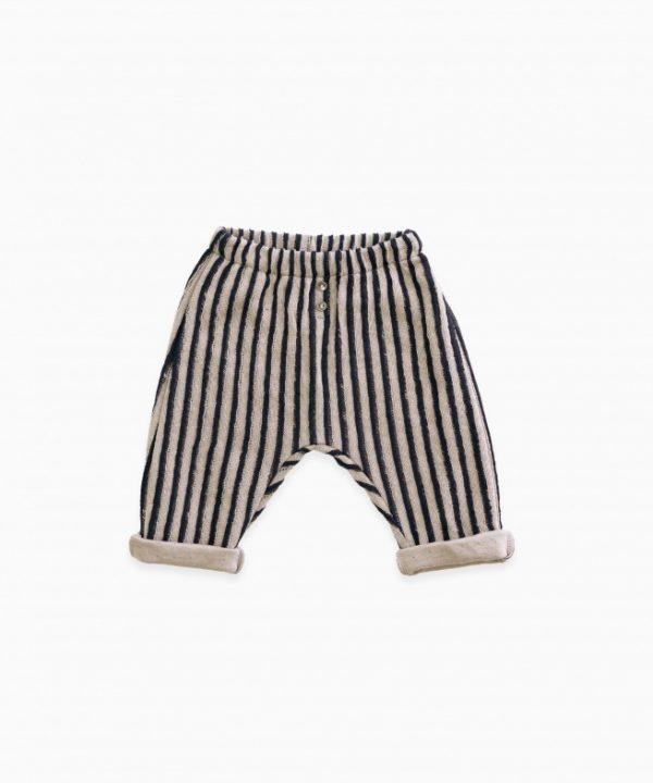 Double sided, striped trousers