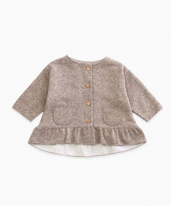 Jacket with frill and pockets