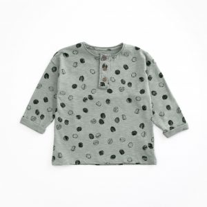 T-shirt in organic cotton with opening